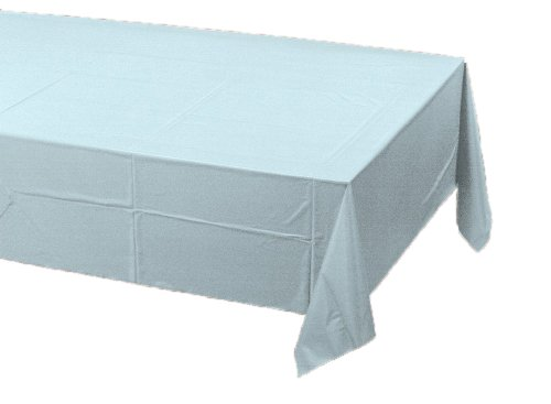 Pink Paper Tablecloths - Creative Converting Paper Banquet Table Cover, Pastel Blue