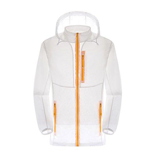 LANBAOSI Women's Lightweight UPF 30+ Outdoor Quick Dry Hoody Windbreaker Jacket (Zippered Windbreaker)