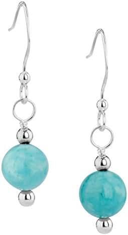 American West Sterling Silver Blue Green Kingman Turquoise Earrings