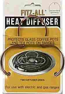 Fitz-All Heat Diffusers For Use On Ranges To Protect Glass Cookware Copper Card Of 2 by Tops