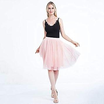 NVDKHXG 4 Capas Voile Faldas de Tul para Mujer Primavera Verano ...
