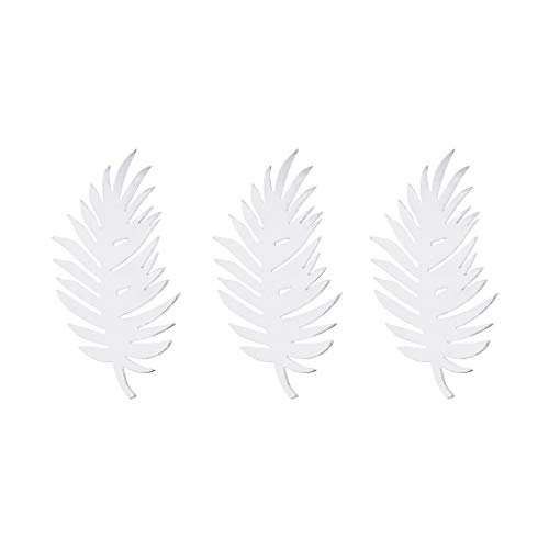BROSCO Paper Monstera Palm Leaves Backdrop Wall DIY Birthday Wedding Party Decor | Color - Palm -Silver ()
