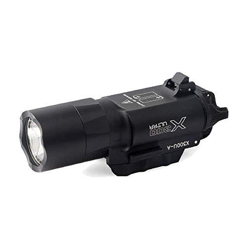 ZHIKE Tactical X300U-A 600 Lumens Bright LED Flashlight Torch Light Fit 20mm Picatinny Rail Rifle (X300 Light)
