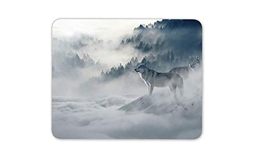 Wild Wolf Mouse Mat Pad Animal Lover Dog Husky Xmas Gift Computer PC Gift
