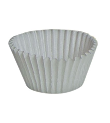 1.25'' x .875'' White Glassine-Coated Candy Cups - 28,000 count by TAP Packaging Solutions