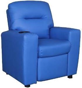 Cribel Poltrona Relax Per Bambini Ecopelle Blu Per Camera Bambini O Salotto Amazon It Casa E Cucina