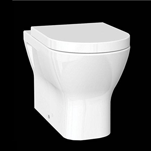 RAK Resort Back to Wall Rimless WC Toilet Pan /& Soft Close Seat