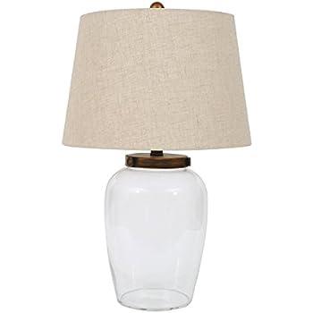 creative co op da6343 secret gardens glass fillable jar table lamp with cork stopper. Black Bedroom Furniture Sets. Home Design Ideas