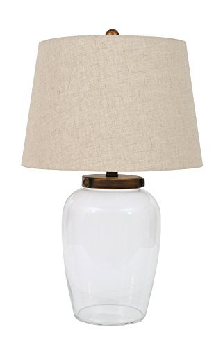 Creative Co-op Glass Fillable Table Lamp with Shade