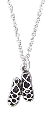 "Quantum Jewelry 18"" Necklace with Sterling Silver Plated Lead Free Irish Ghillie Dance Shoes Charm"
