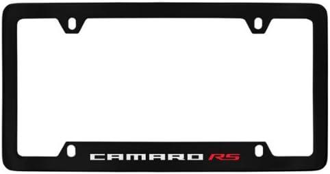 Chevrolet Camaro RS Black Coated Metal Bottom Engraved License Plate Frame