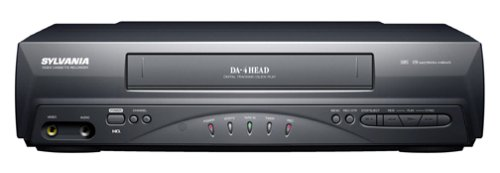 Sylvania 6240VE 4-Head VCR, Black