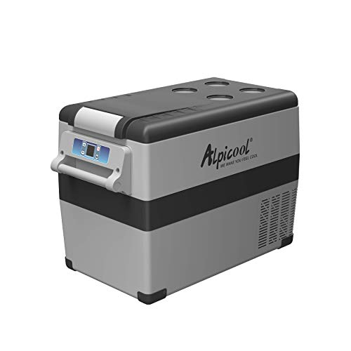 Alpicool CF45 Portable Refrigerator/Freezer 48 Quart Vehicle, Car, Truck, RV, Boat, Mini Fridge Freezer for Driving, Travel, Fishing, Outdoor-12/24V DC -4°F to 68°F