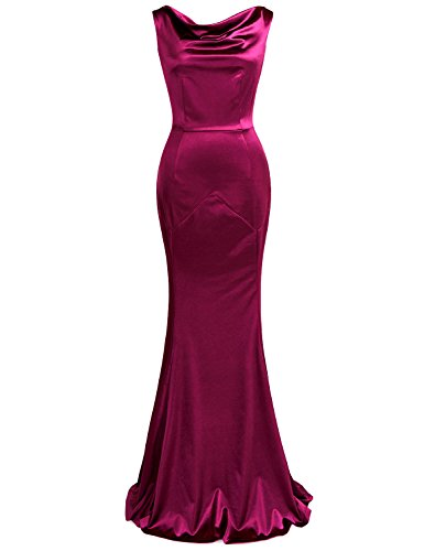 MUXXN Women's 30s Brief Elegant Mermaid Evening Dress (L, (Elegant Evening Wear)