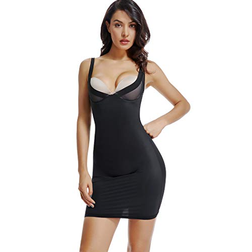 Full Slips for Under Dresses Women Firm Control Open Bust Slip Shapewear Body Shaper