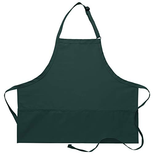 DayStar Apparel 200XL Extra Large Three Pocket Bib Apron (12 Pack), Hunter
