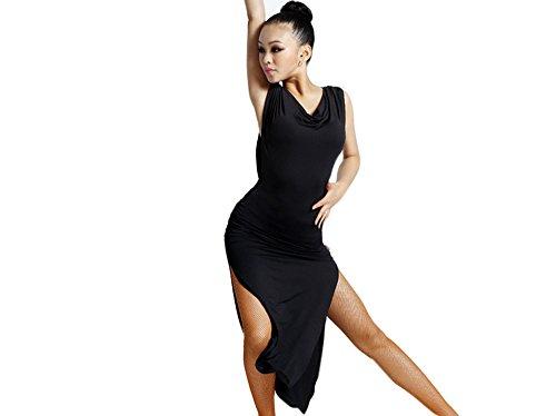 Motony Women New Style Latin Dance Dress Latin Dance Practice Costume Adult Performance Skirt Black