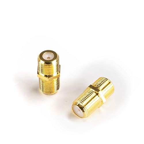 Gold Cable Extension Coupler   4 Pack   Connects Two Coaxial Video Cables, for Coax F81 (Female to Female) 3GHz Satellite, Cable TV, and Cable Internet Rated