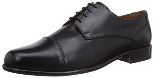Manz - Zapatos de cordones para hombre Schwarz (001 schwarz)