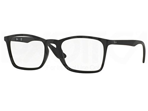 Ray-Ban Men's RX7045 Eyeglasses Rubber Black - Ray Bans Rx