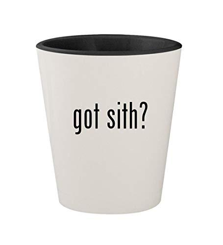 got sith? - Ceramic White Outer & Black Inner 1.5oz Shot Glass