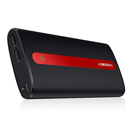 Aibocn 20000mAh Portable Charger (Black+Red)