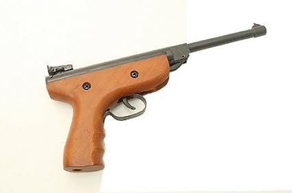 amazon com 5 5mm 22 caliber air pistol pellet gun real wood