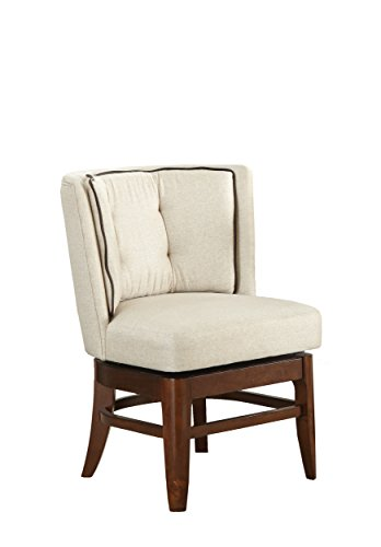 Dining Room Chairs Swivel (Homelegance Oratorio Two-Pack Upholstered Swivel Chairs, Dark Cherry)