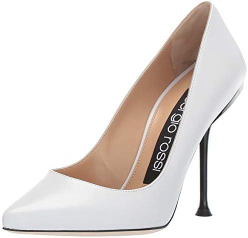 newest bb003 a4832 Sergio Rossi Womens Sr Milano Pump White Size: 6: Amazon.com ...