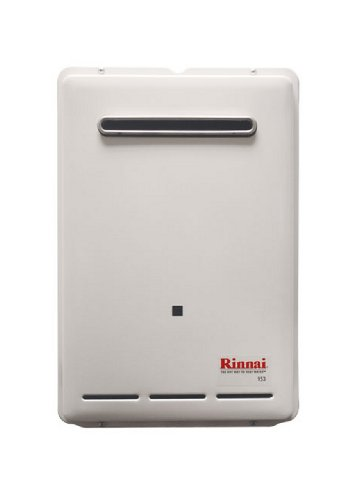Rinnai V53e-LP Propane Outdoor Tankless Water Heater, 5.3 GPM