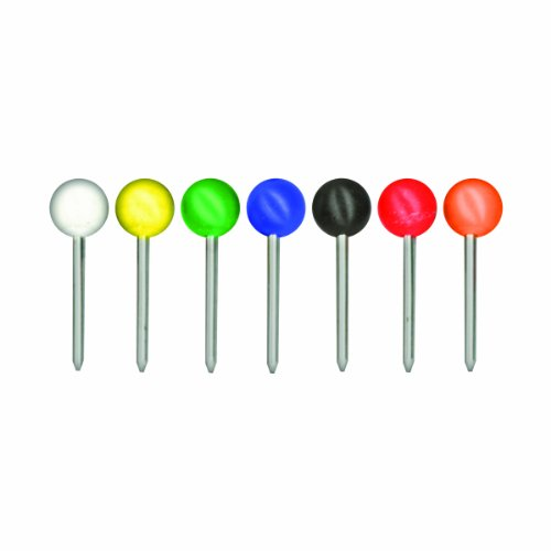 ADVANTUS Medium Head Map Tacks, 3/8-Inch Shank, 3/16-Inch Head, Box of 250, Assorted Colors (MTA250)