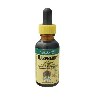 Nature's Answer Alcohol-Free Raspberry Leaf, 1-Fluid Ounce - Red Raspberry Liquid Extract