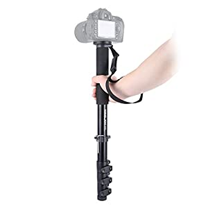 "64-inch Aluminum Monopod Selfie Stick ,KINGJOY MP408F Aluminum 4-section Adjustable Monopod With Max Load 44.1lbs UNC1/4"" UNC3/8"" For Camera Video"
