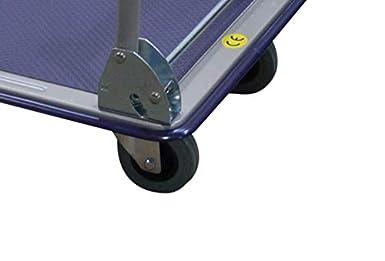 carro de transporte carrito capacidad 150 kg carro de mano T-EQUIP PFW-150R color plateado y azul Carro de plataforma plegable con revestimiento antideslizante
