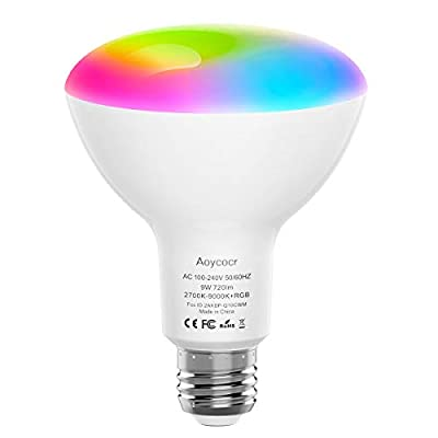 Smart Light Bulb BR30 Dimmable - 720 Lumen - Tunable Warm White 2700K to Daylight 9000K - 9W (80W Equivalent) - BR30 Flood Light Works with Alexa - Google Home - IFTTT - No Hub Required - WiFi - E26