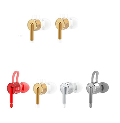 BACH-AUDIO-EM05, In- Ear Hearphones, Earbuds with Mic and 3.5mm Gilded plug , Deep bass and Stereo . Compatible with Android, Iphone and Miui HiFi earbuds