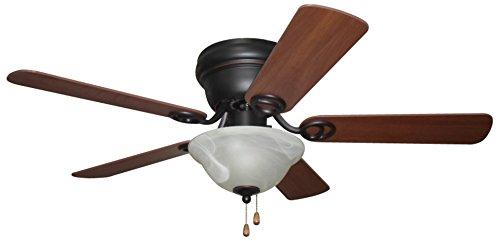 Ellington Glass Ceiling Fan (Ellington WC42ORB5C1 Wyman Ceiling Fan with Classic Walnut/Walnut Blades and Alabaster Glass, 42
