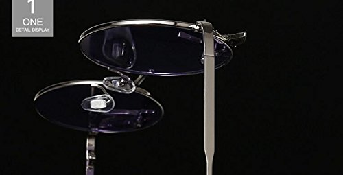 Femmes Métallique et du de Transparente Soleil Feuille C Steampunk Hommes Inspirées Retro Style Lunettes Rond en Cercle Polarisées Pour Hnxwv