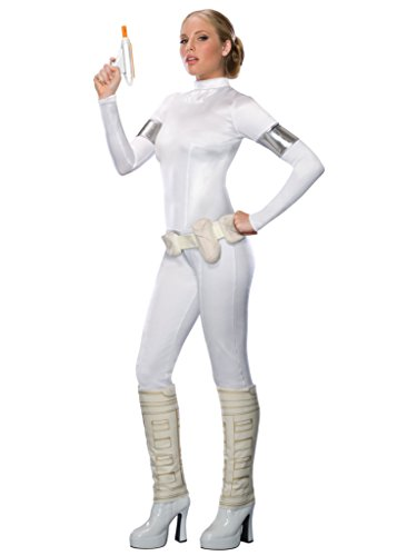 Secret Wishes Star Wars Sexy Padme Amidala Costume, White, Small - Star Wars Padme Blaster
