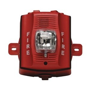 Outdoor H S, Wall, 2-Wire, Std Candela, Red