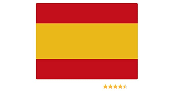 Artimagen Pegatina Bandera Rectangular España 80x60 mm.: Amazon.es ...