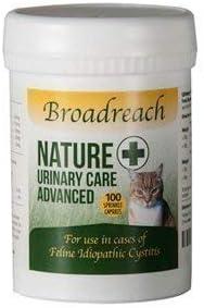 Broadreach Nature + Urinario, Cistitis y Calmante Suplemento para Gatos - Galardonado Producto Naturales Ingredientes - Avanzado UK Veterinario Fórmula - 100 Capsulas