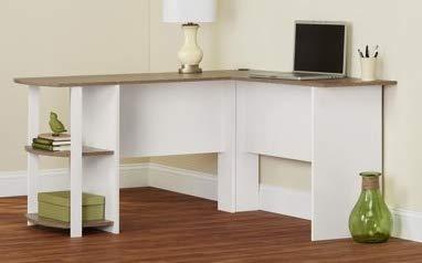 Corner Desk with Hutch Computer Offers Generous Work Space White Sonoma Oak by - Oak Hutch Sonoma