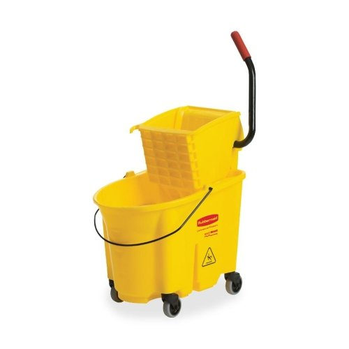"Rubbermaid WaveBrake Mopping System - 8.75 gal - Plastic, Steel - 38.1"" x 16"" x 23.1"" - Yellow"