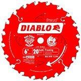 Atb Trim - Freud D0620X Diablo 6-Inch 20 Tooth ATB Trim Saw Blade with 1/2-Inch Arbor