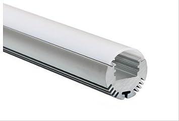 Armario ovalado con barra de cromo pulido para colgar a medida con soportes de extremo y tornillos