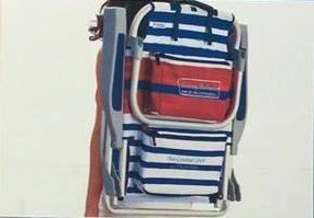 2 Tommy Bahama Backpack Beach Chairs/ Red White Blue Stripes + 1 Medium Tote Bag by Tommy Bahama Beach Gear (Image #7)