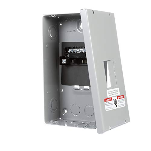Murray LC002GSU Load Center, 2 Space, 4 Circuit, 60A Main Lug, Indoor, Surface mount (Single Breaker Pole Circuit Ge)