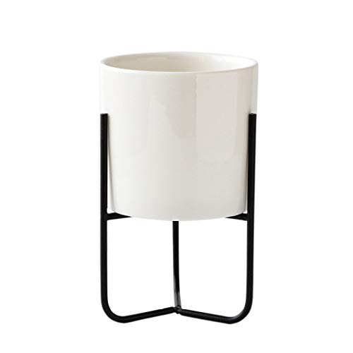 Nordic Ceramic Vases Simple Iron Frame Art Table Centerpiece Vase Flower Pot Home Room Garden Decoration (List Of 2d Shapes In The Home)