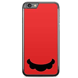 Loud Universe Red Mario Super Mario iPhone 6 Case Mario Mustache iPhone 6 Cover with Transparent Edges